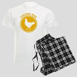 Chicken Man Men's Light Pajamas