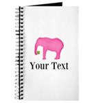 Personalizable Pink Elephant With Clover Journal