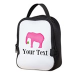 Personalizable Pink Elephant With Clover Neoprene