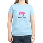 Personalizable Pink Elephant With Clover T-Shirt