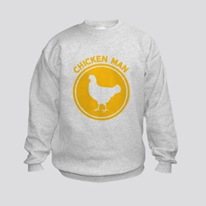 Chicken Man Kids Sweatshirt