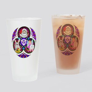 Santa -Trinity of Lies-  Drinking Glass