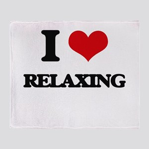 I Love Relaxing Throw Blanket