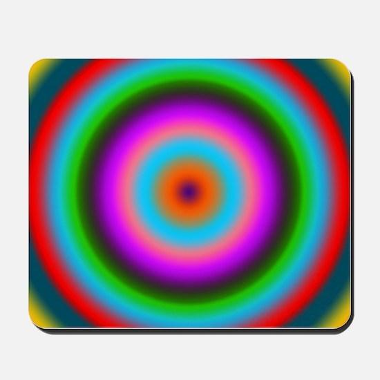 Bulls-eye multicolored by designeffects Mousepad