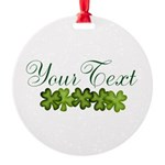 Personalizable Shamrocks Ornament