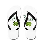 Personalizable Shamrocks Flip Flops