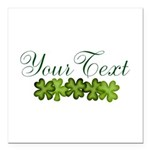 Personalizable Shamrocks Square Car Magnet 3