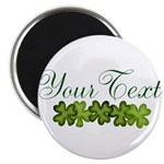 Personalizable Shamrocks Magnets