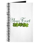 Personalizable Shamrocks Journal