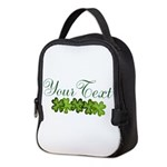 Personalizable Shamrocks Neoprene Lunch Bag