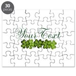 Personalizable Shamrocks Puzzle