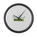 Personalizable Shamrocks Large Wall Clock