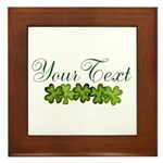 Personalizable Shamrocks Framed Tile