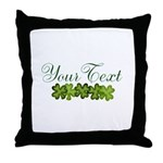 Personalizable Shamrocks Throw Pillow
