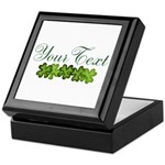 Personalizable Shamrocks Keepsake Box