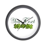 Personalizable Shamrocks Wall Clock