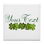 Personalizable Shamrocks Tile Coaster