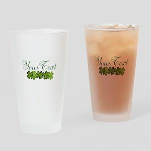 Personalizable Shamrocks Drinking Glass