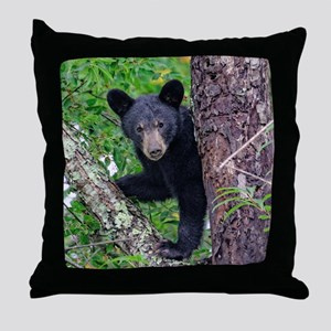I SEE YOU - Baby Black Bear Throw Pillow