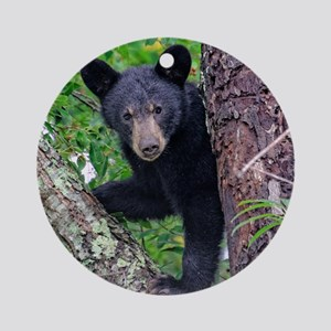 I SEE YOU - Baby Black Bear Ornament (Round)