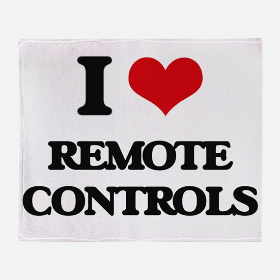 I Love Remote Controls Throw Blanket