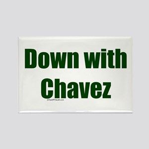 Down With Chavez Rectangle Magnet