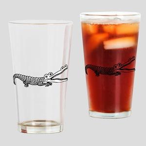 Alligator Drawing Drinking Glass