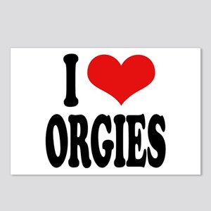 I Love Orgies Postcards (Package of 8)