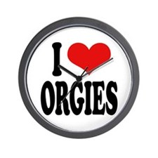 I Love Orgies Wall Clock