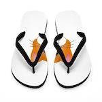 Orange Cat Flip Flops
