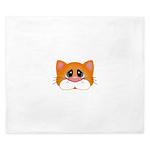 Orange Cat King Duvet