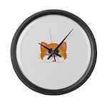 Orange Cat Large Wall Clock
