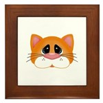 Orange Cat Framed Tile