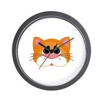 Orange Cat Wall Clock