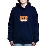 Orange Cat Women's Hooded Sweatshirt