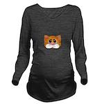 Orange Cat Long Sleeve Maternity T-Shirt