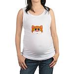 Orange Cat Maternity Tank Top