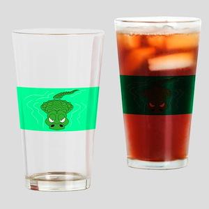 Alligator In Water Drinking Glass