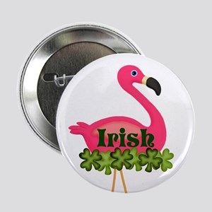 "Irish Flamingo 2.25"" Button"