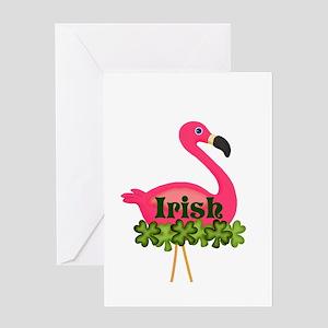 Irish Flamingo Greeting Cards