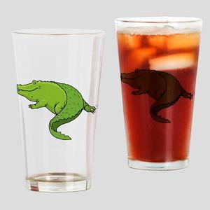 Green Alligator Drinking Glass