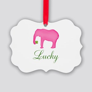Personalizable Pink Elephant Ornament