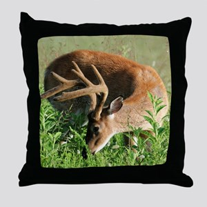 BUCK in Great Smoky Mtns Throw Pillow
