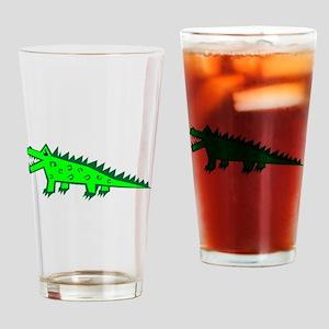 Cartoon Alligator Drinking Glass