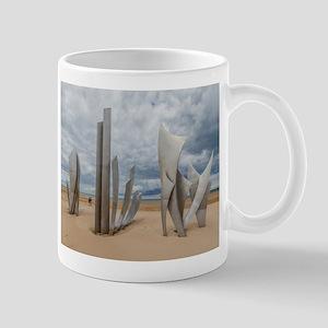 Omaha Beach Monument Mugs