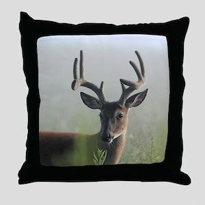 BUCK in FOGGY VELVET Throw Pillow