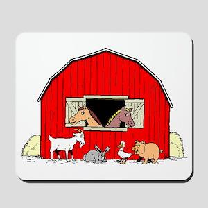 Barn Animals Mousepad