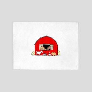 Barn Animals 5'x7'Area Rug