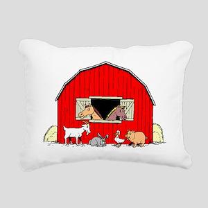Barn Animals Rectangular Canvas Pillow