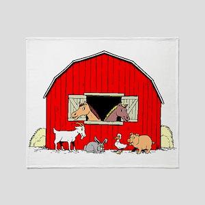 Barn Animals Throw Blanket